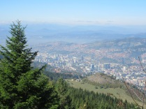 View of Sarajevo from Mt. Trebevic