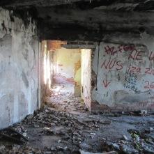 A Bosnian Serb sniper nest on Mt. Trebevic